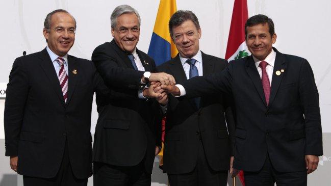 Piñera se reunió este sábado con la Alianza del Pacífico.