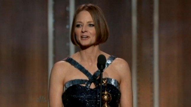 Jodie Foster recibió el premio a la trayectoria Cecil B. DeMille.
