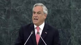 El gobernante reiteró el apoyo de Chile al Estado Palestino y condenó el uso de armas químicas en Siria.