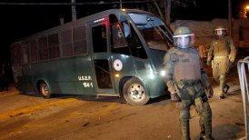 Los ex uniformados fueron trasladados en un bus de Gendarmería.