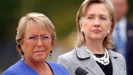 Clinton destacó especialmente a Bachelet.