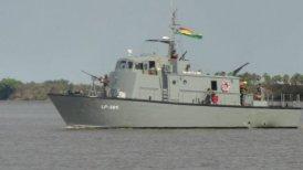 Dos personas desaparecieron al hundirse una embarcación de la Armada boliviana(Cooperativa) Foto_0000001020140923223512