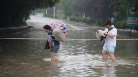 En la localidad de Liuye se registraron precipitaciones de 390 milímetros la semana pasada.