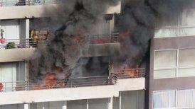 Los habitantes fueron evacuados desde el edificio.