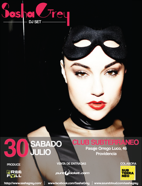 Ex actriz porno Sasha Grey llega a Chile como DJ