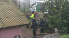 Personal de Carabineros y Bomberos acudieron a la emergencia.