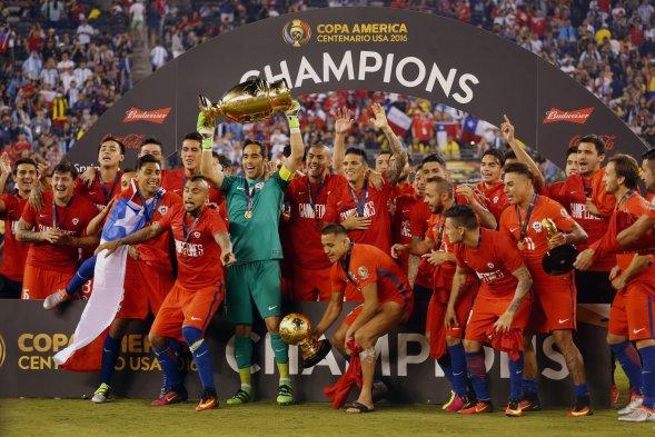 [Fotos] La Selección Chilena Levantó La Copa América