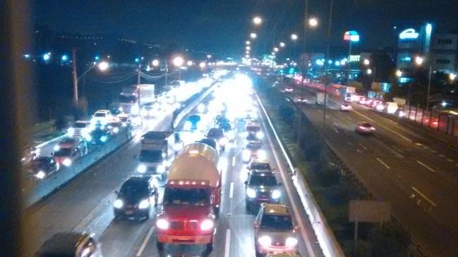 Obras De Autopista Santiago Lampa Provoca Tacos Kilometricos En