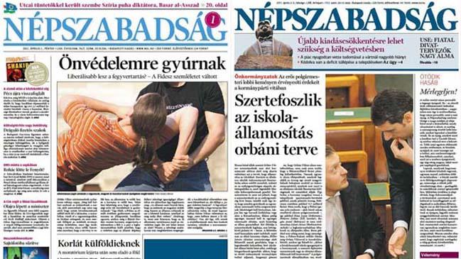 Resultado de imagen para diarios hungaros de orban