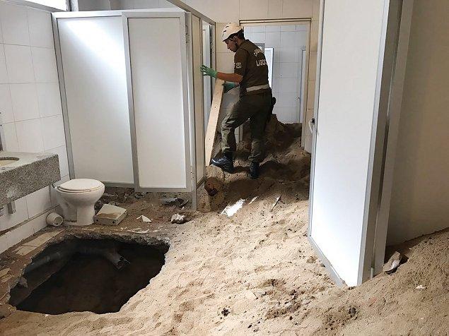 Descubren túnel de 25 metros bajo sucursal bancaria — Viña del Mar