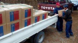 El Municipio detalló que las cajas con la nueva mercadería ya está siendo entregada a los afectados.
