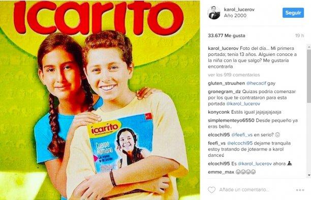 Karol Lucero compartió en Instagram la portada que protagonizó a los 13 años - Imagen 2
