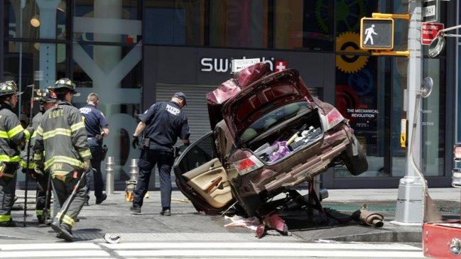 Impactantes videos muestran momento del atropellamiento en Times Square