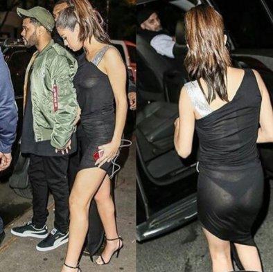Selena Gomez sorprende con blusa transparente ¡y sin brasier!
