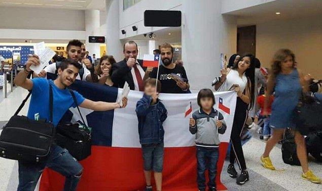 Las familias sirias viajaron desde Líbano hacia Chile