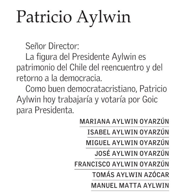Quiero encarnar el espíritu del Presidente Aylwin — Sebastián Piñera