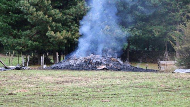 Tres casas y dos galpones destruidos deja ataque incendiario en Cañete