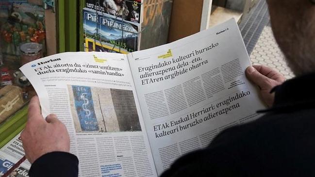 Grupo vasco ETA pide perdón