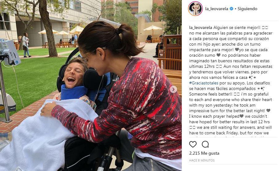 Fotos Leonor Varela Agradeció Todo El Apoyo Y Dijo Que Su Hijo Se