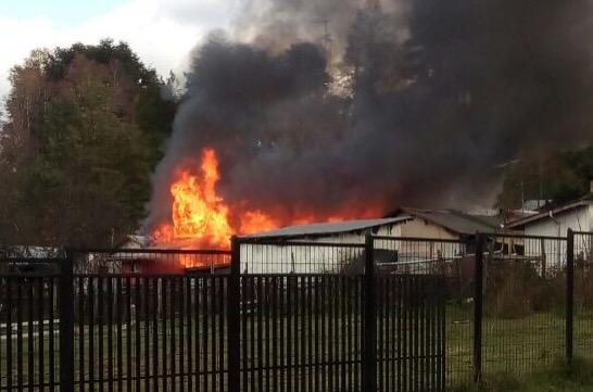 Incendio destruye tres viviendas en la provincia de Osorno