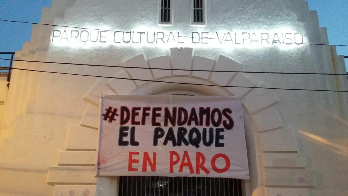 Trabajadores del Parque Cultural de Valparaíso inician paro
