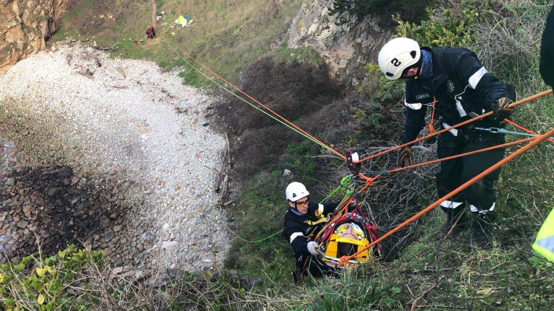 Bomberos de Concepción obtienen inédita certificación para acudir a rescates en todo Chile