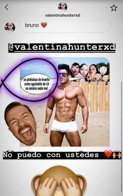 El ex Axe Bahía, Bruno Zaretti, compartió en sus historias de Instagram el mensaje obsceno que le envió una seguidora y le provocó risas.