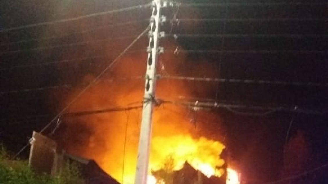 Incendio dejó a una mujer fallecida en Quilpué