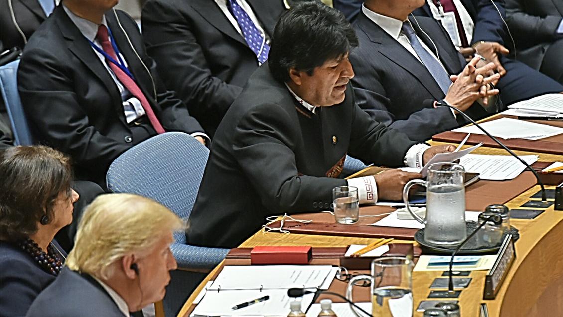 Evo Morales encara a Donald Trump en la ONU:
