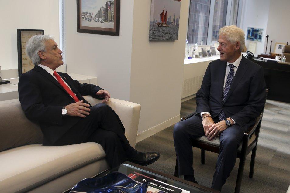 Fotos] Presidente Piñera se reunió con Bill Clinton en el marco de ...