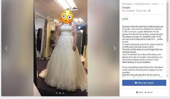 23ab07235 Mujer decidió vender su vestido de novia para pagar el divorcio de ...