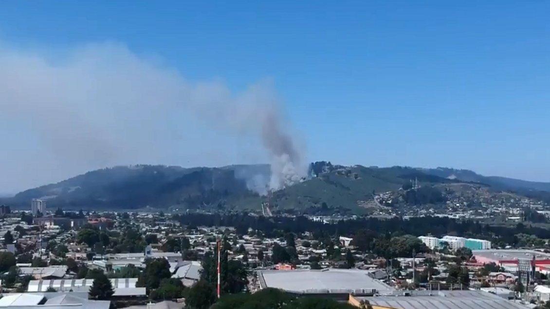 Controlaron incendio forestal que consumió cuatro hectáreas de cerro en Temuco