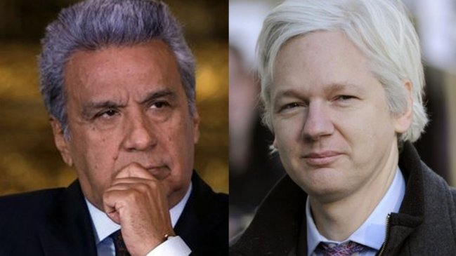 Moreno calificó a Assange de