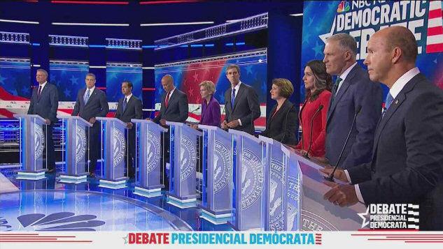 Partido Demócrata realiza su segundo, y masivo, debate presidencial en EE.UU.