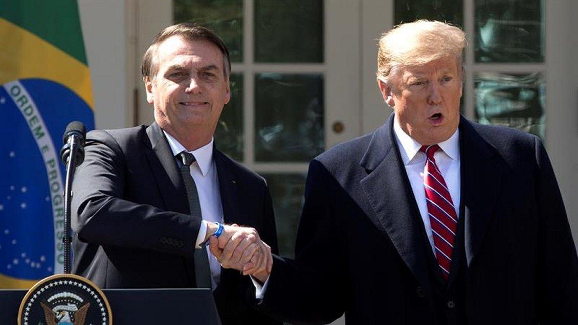 Trump declaró a Brasil aliado militar estratégico de EE.UU. fuera de la OTAN
