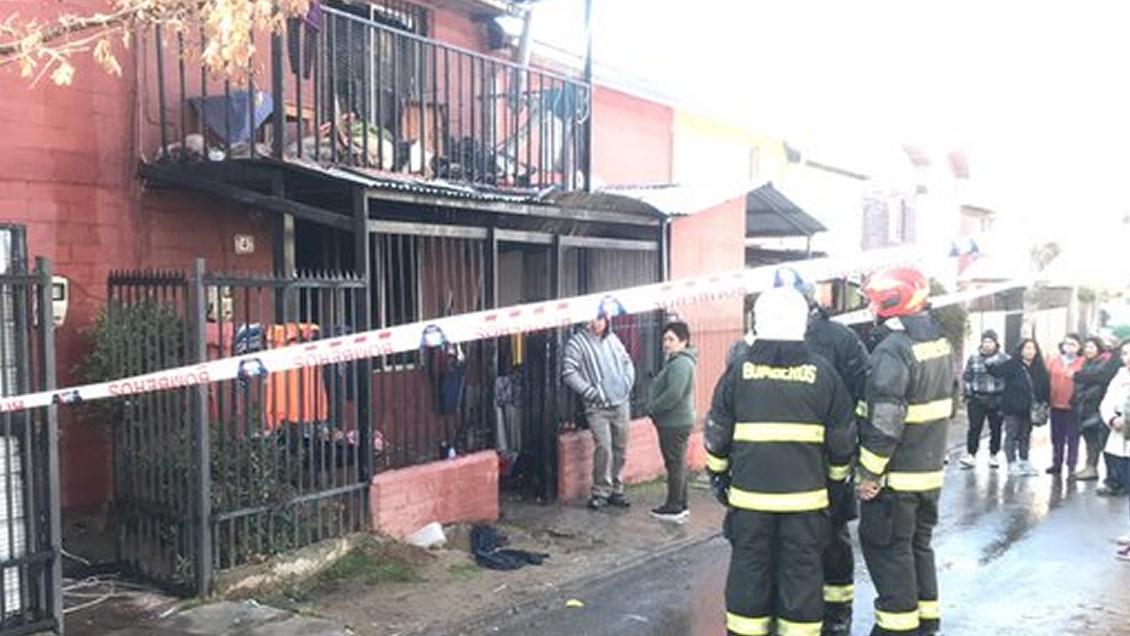 Dos niños y una mujer fallecieron en un incendio en Curacaví