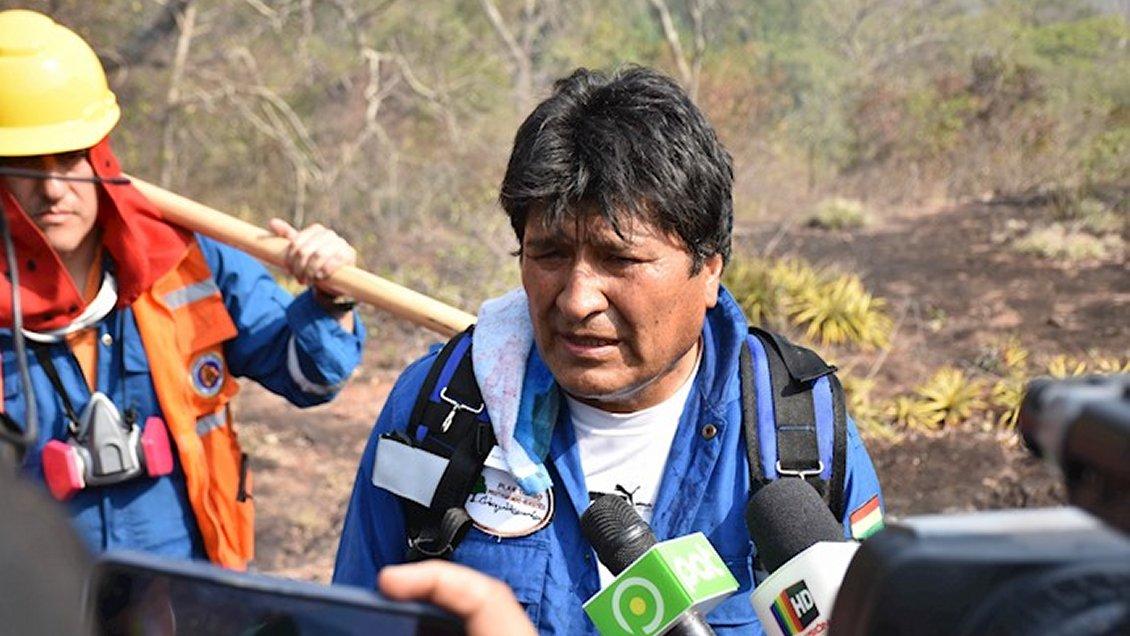Evo Morales a lo Bolsonaro: Dice que incendios son provocados para afectarlo