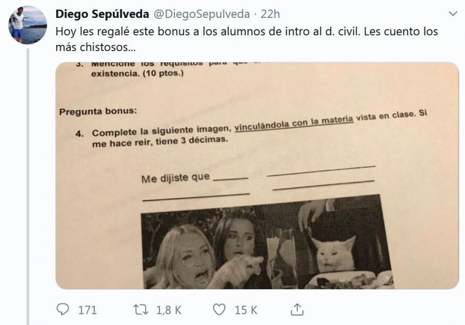 Fotos Profesor Incluyó En Una Prueba El Meme Del Gato Y Se