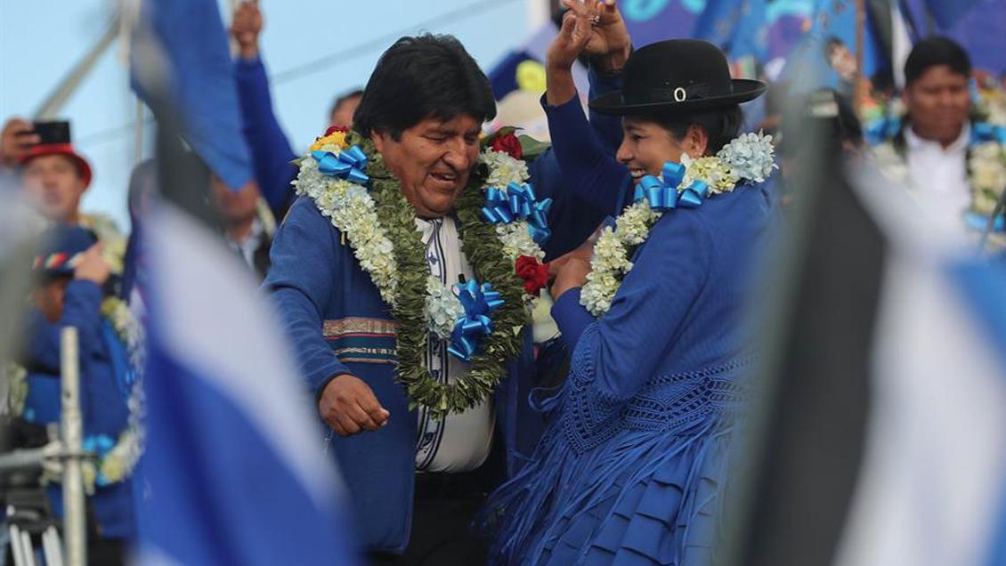 Evo Morales cerró su campaña confiado en ganar de nuevo por