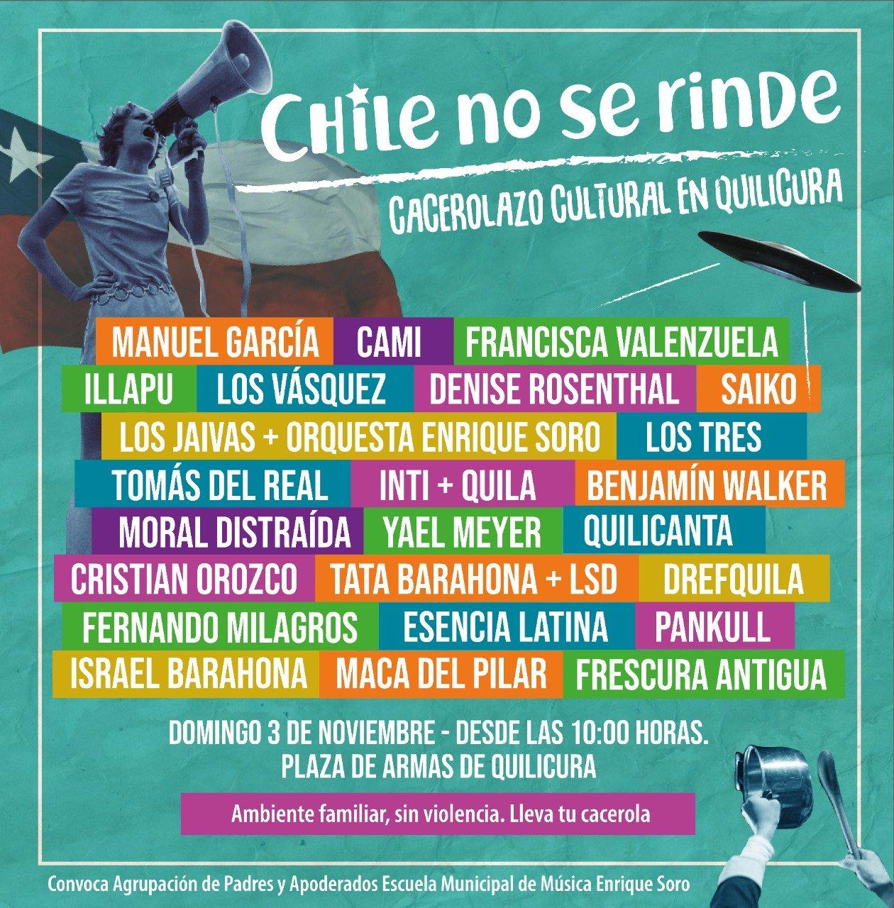 Afiche promocional Chile no se rinde