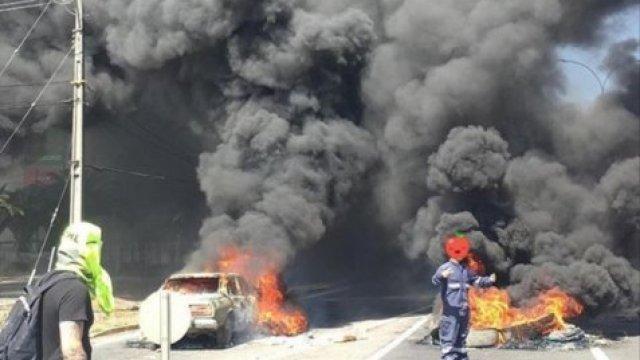 Así fue la protesta en cruce carretero Aguas Negras de Curicó - Cooperativa.cl
