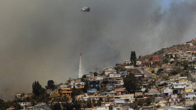 Onemi evacua zona urbana de Valparaíso ante amenaza de nuevo incendio forestal - Cooperativa.cl