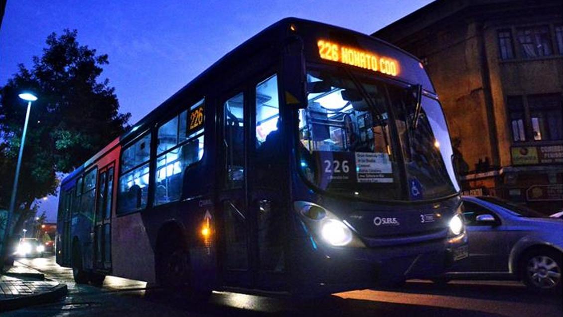 Transantiago volverá a tener servicios nocturnos desde este jueves