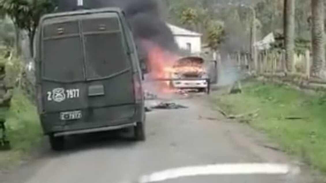 Contulmo: Testigo acusa agresión de Carabineros previo a quema de vehículos