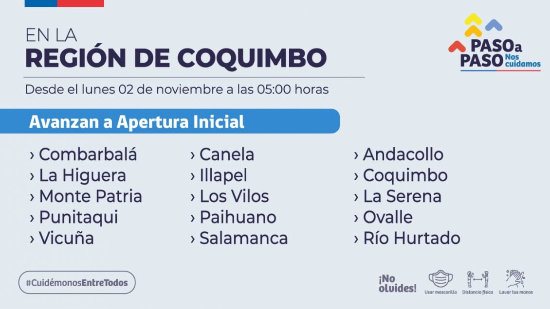 Región de Coquimbo se prepara para iniciar la Fase 4 de
