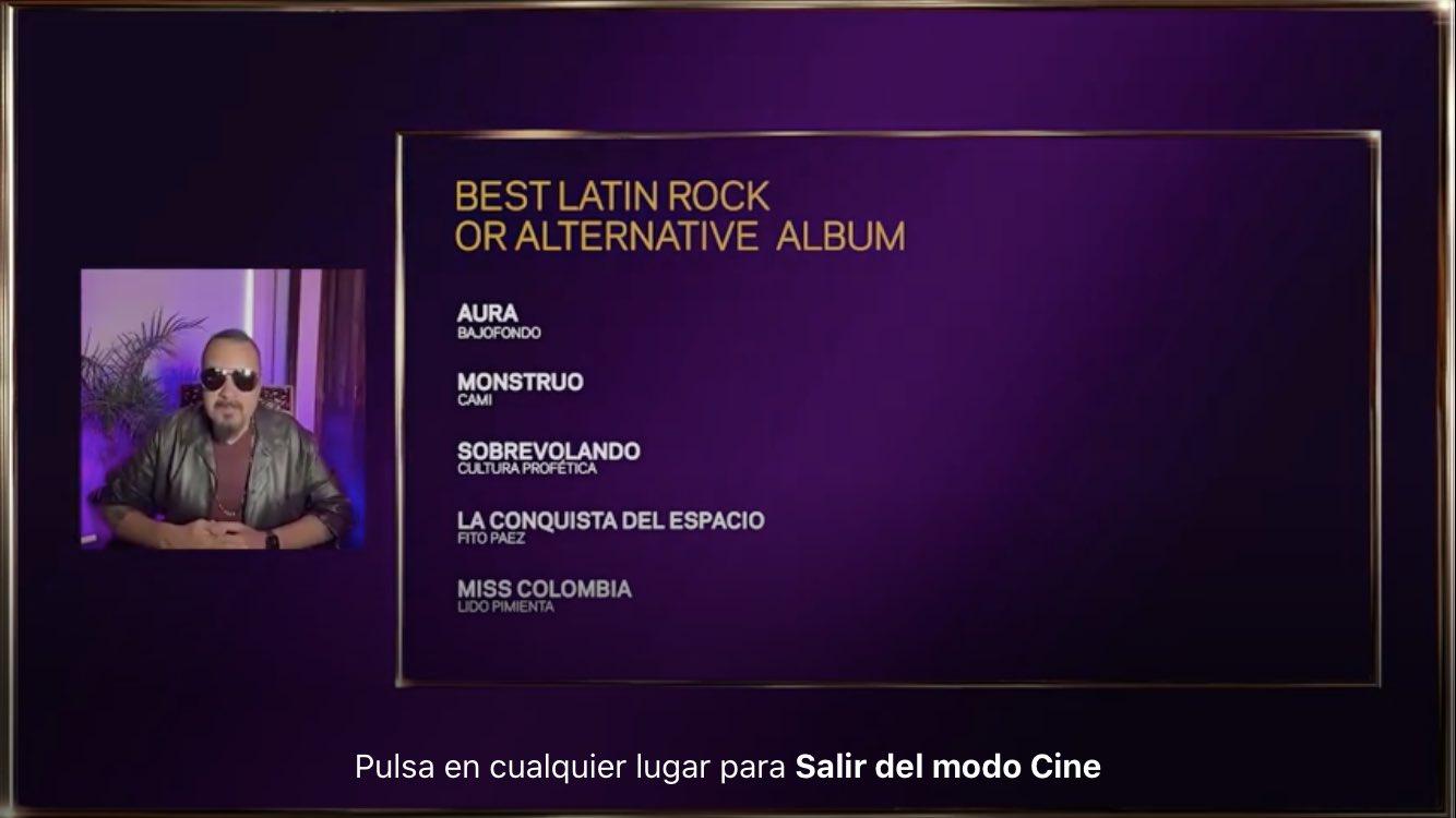 La conquista del espacio: Fito Páez nominado al Grammy 2021