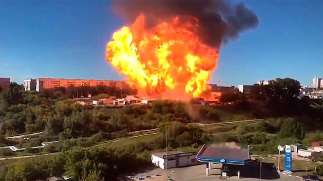 Infernal explosión de gasolinera en Rusia
