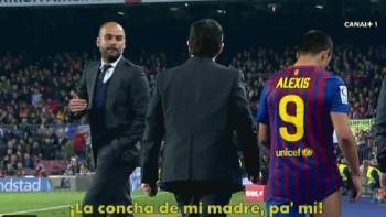 Guardiola enojado con Alexis